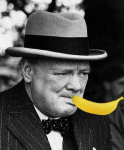 Winston Smoking a banana